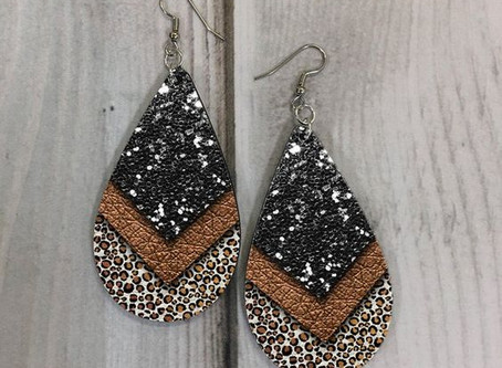 How to Create a Layered Leather Earrings