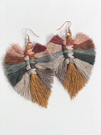 Feather Tassel Earrings - Jewelry Making Kit