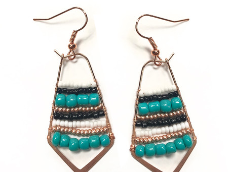 How to Create Beaded Open Bezel Earrings