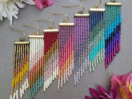 How to Create Beaded Fringe Earrings