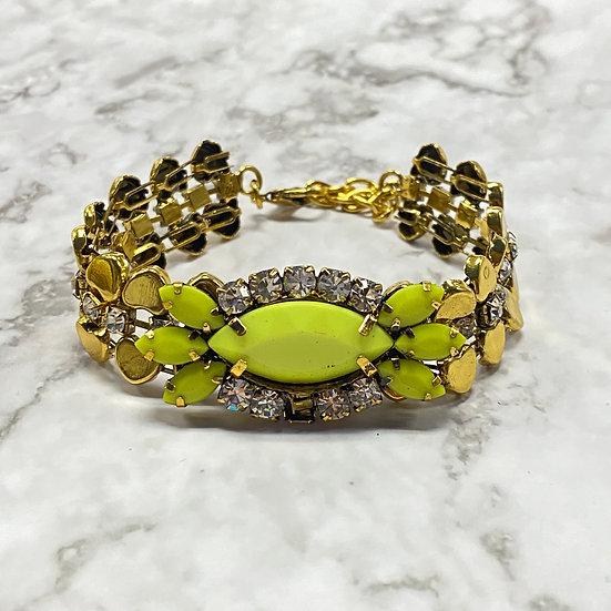 Neon Stone Rhinestone Bracelet