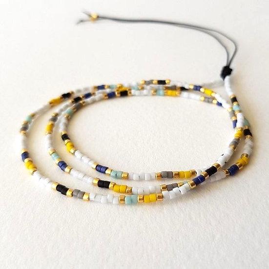 Adjustable Simple Beaded Bracelet - Jewelry Making Kit
