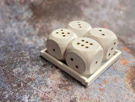 How to Create a Wood Burned Dice Set
