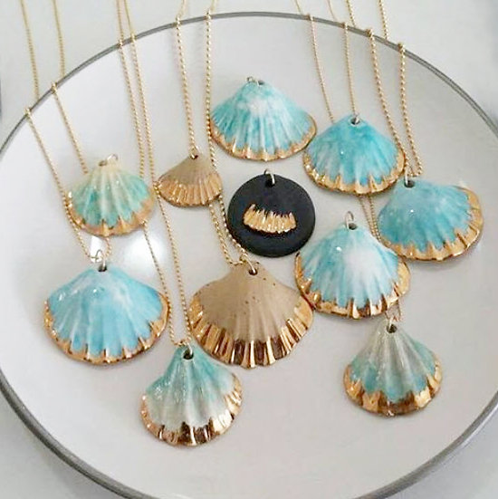 Painted Sea Shell Necklace - Jewelry Making Kit