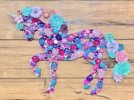 How to Create a Rhinestone & Jewel Unicorn
