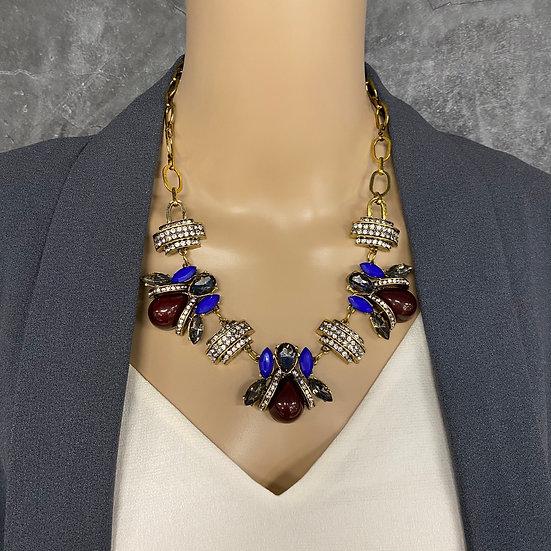Royal & Wine Antique Rhinestone Necklace