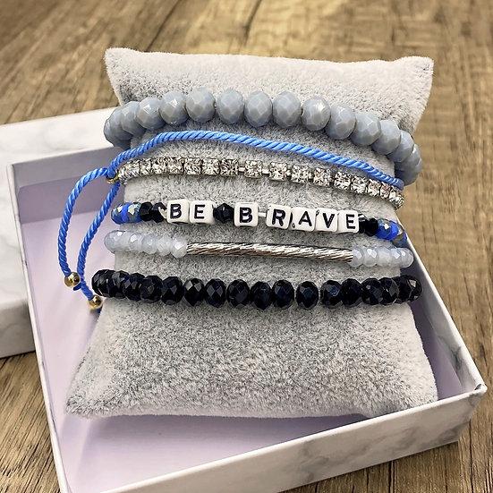 Giving Chains Bracelet Set - Be Brave