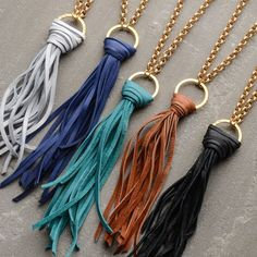 Suede Tassel Necklace - Jewelry Making Kit