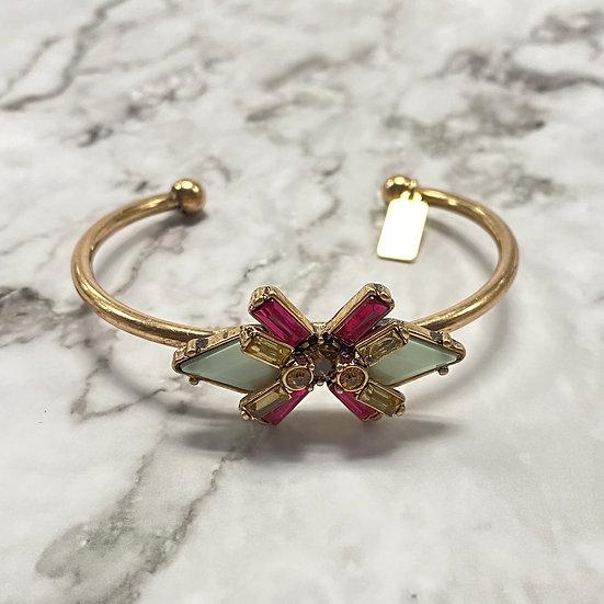 Fuchsia & Mint Jeweled Bangle