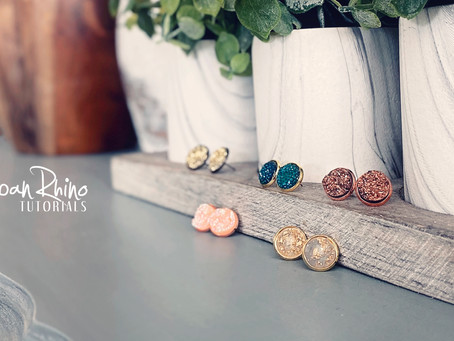 How to Create Faux Druzy Earrings