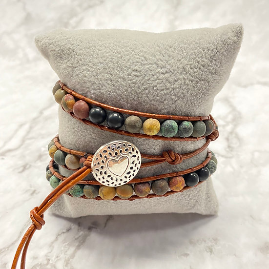 Beaded Wrap Bracelet - Natural