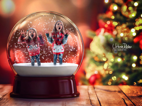 Photoshop Speed Edit: Christmas Snow Globe