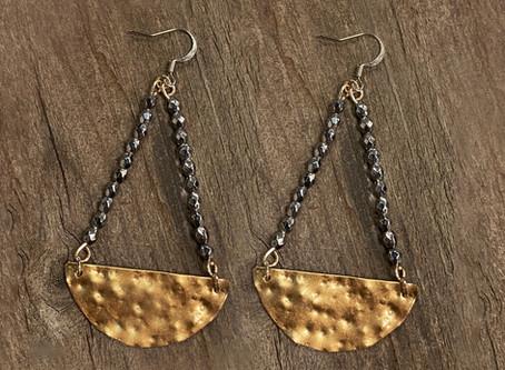 How to Create Textured Metal Earrings