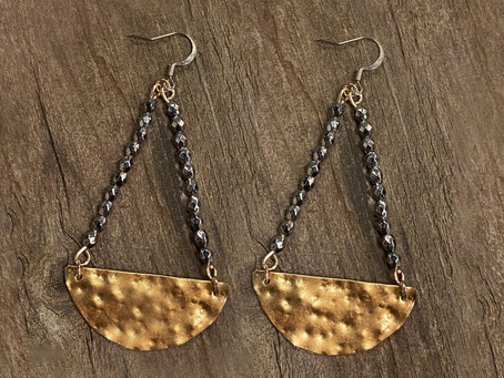 How to Create Textured Metal Earrings