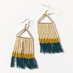 Beaded Color Block Geometric Earrings - Jewelry Making Kit