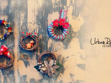 How to Create Christmas Wreath Ornaments