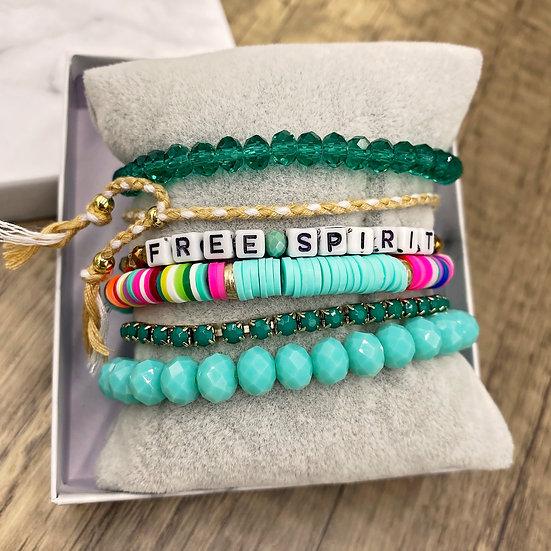 Giving Chains Bracelet Set - Free Spirit