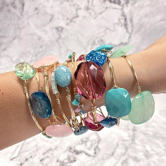 Stone Stacking Bangles - Jewelry Making Kit