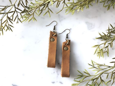 How to Create Looped Leather Earrings