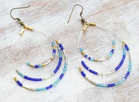How to Create a Beaded Loop Earrings