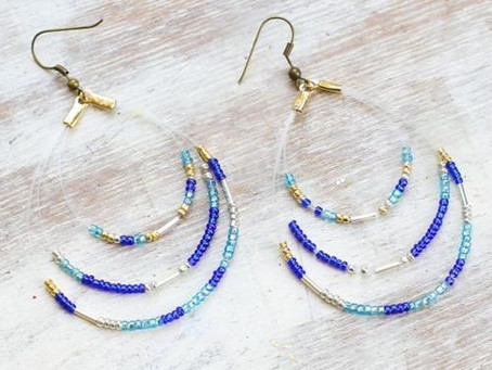 How to Create a Beaded Loop Earrings