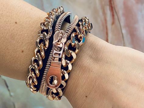 How to Create a Zipper & Chain Bracelet