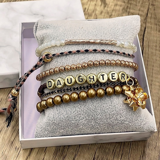 Giving Chains Bracelet Set - Daughter