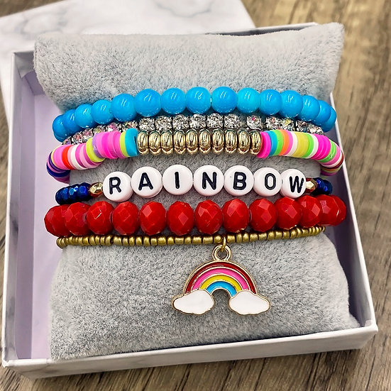 Giving Chains Bracelet Set - Rainbow