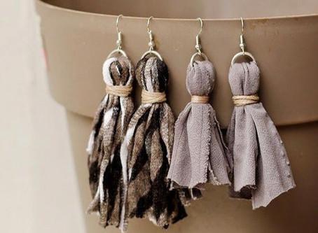 How to Create Scrap Fabric Earrings