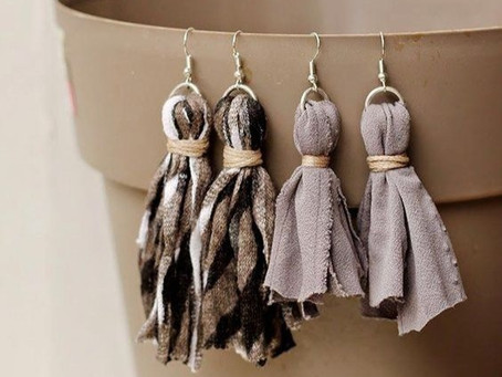 How to Create Scrap Fabric Earrings