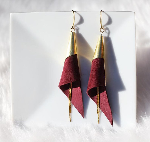 Rolled Leather Earrings - Jewelry Making Kit