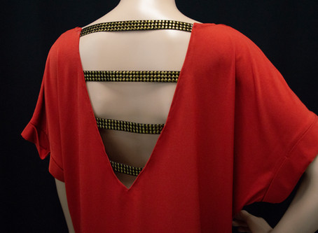 Fashion Transformation: Open Back Top with Studded Trim