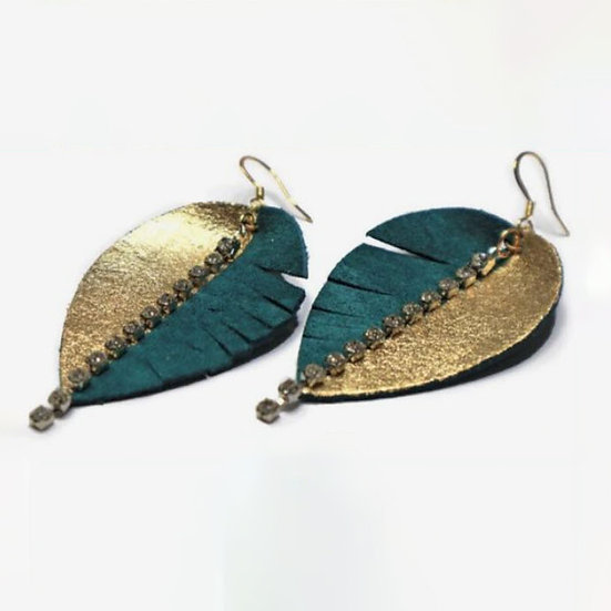 Painted Leather Feather Earrings - Jewelry Making Kit