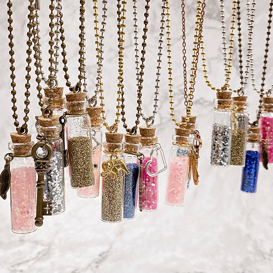 Fairy Dust Bottle Necklace - KIDS Jewelry Making Kit
