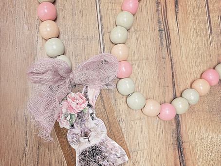 How to Create a Wood Bead Easter Garland