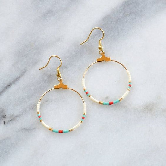 Beaded Hoop Earrings - Jewelry Making Kit