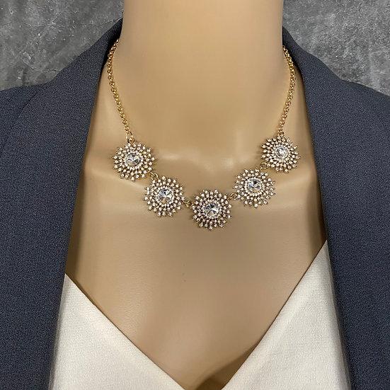Sunburst Rhinestone Necklace