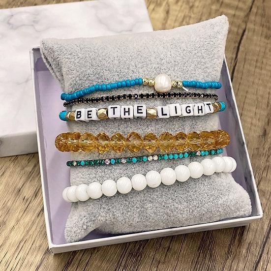 Giving Chains Bracelet Set - Be the Light