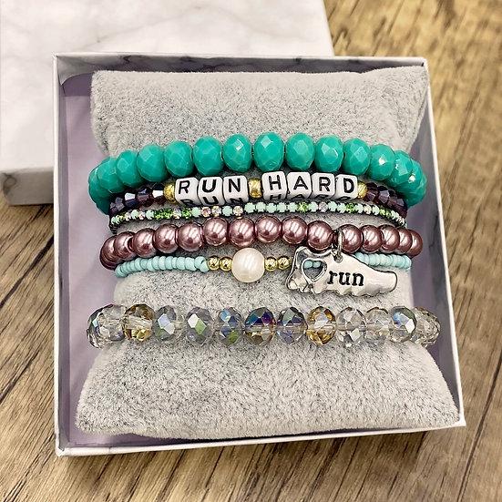 Giving Chains Bracelet Set - Run Hard