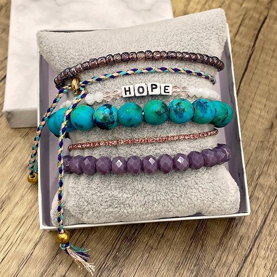 Giving Chains Bracelet Set - Hope