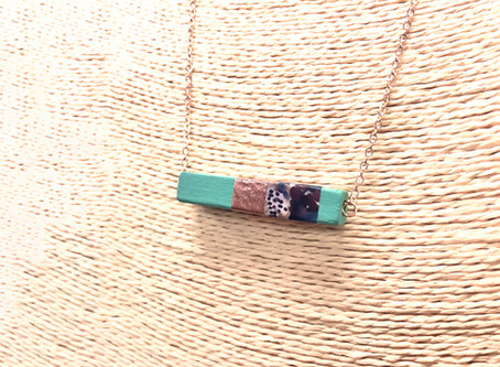 How to Create a Painted Wood Necklace