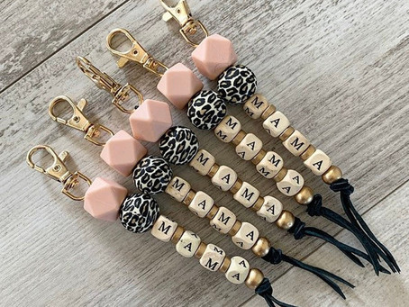 How to Create Wood Letter Bead Keychains