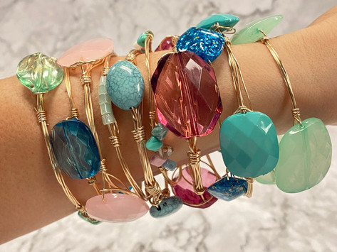 How to Create Stone Stacking Bangle Bracelets