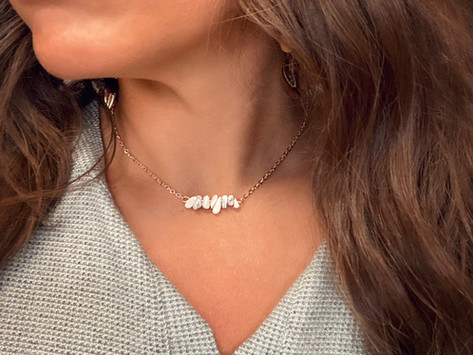 How to Create a Dainty Stone Necklace