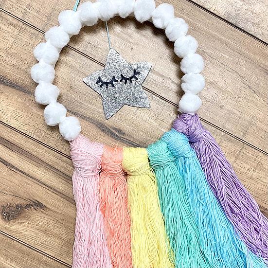 Rainbow & Cloud Yarn Wall Hanging - Arts & Craft Kit