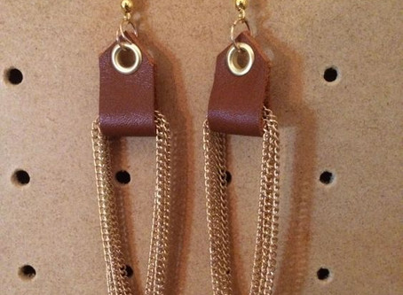 How to Create Leather & Chain Eyelet Earrings