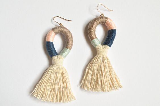Rope Tassel Earrings - Jewelry Making Kit
