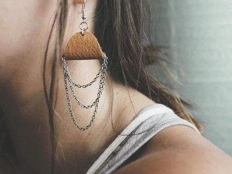 How to Create Leather & Chain Earrings