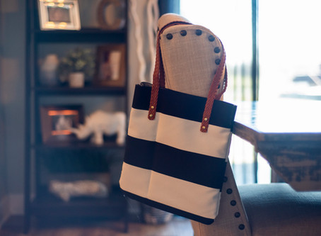 How to Make Your Own Canvas & Leather Tote Bag