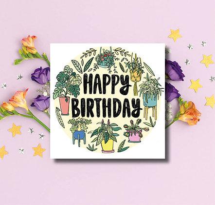 Happy Birthday house plants
